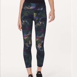 New LULULEMON Train Times 7/8 Pant AORA Navy 10